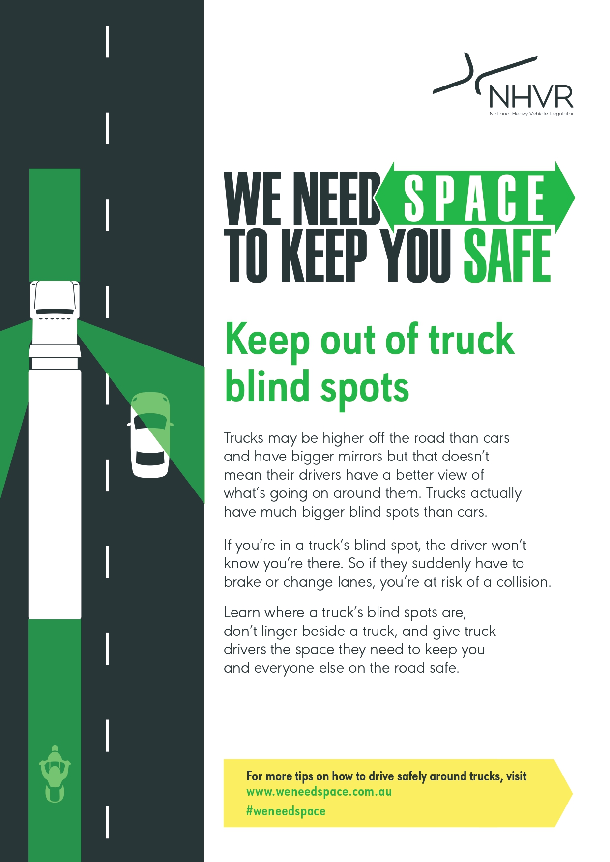 We Need Space Part 2 Keep Out Of Truck S Blind Spots
